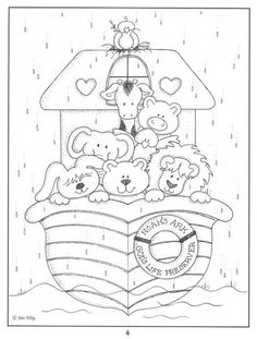Noahs Ark Bible coloring page Bible Coloring Pages, Adult Coloring Pages, Coloring Books, Sunday School Crafts, Bible Crafts, Kids Church, Digi Stamps, Coloring Pages For Kids, Embroidery Patterns