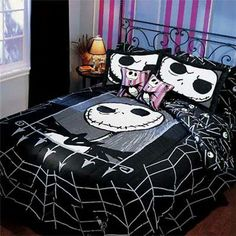 Nightmare Before Christmas Twin Comforter Bedding Nightmare Before Christmas Wedding, Nightmare Before Christmas Decorations, King Size Sheets, Queen Sheets, Twin Comforter, Bedding Sets, Jack The Pumpkin King, Goth Home Decor, Gothic Furniture