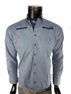 Koszula męska - Niebieskim - Koszule męskie - Awii, Odzież męska, Ubrania męskie, Dla mężczyzn, Sklep internetowy Shirt Dress, Mens Tops, Shirts, Dresses, Fashion, Vestidos, Moda, Shirtdress, Fashion Styles