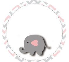 Elefantinho Chevron cinza e rosa: Kit festa grátis para imprimir – Inspire sua Festa ® Figuras Para Baby Shower, Dibujos Baby Shower, Imprimibles Baby Shower, Elephant Baby Showers, Baby Elephant, Baby Shower Niño, Bebe Baby, Preparing For Baby, Ideas Para Fiestas