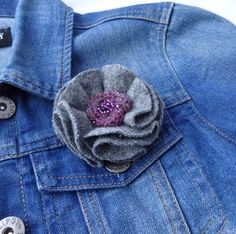 A personal favourite from my Etsy shop https://www.etsy.com/uk/listing/506176859/mothers-day-brooch-grey-fabric-flower
