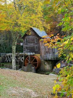 old mill in fall