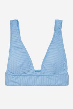 Rib Longline Triangle Bikini Top - Swimwear - Clothing - Topshop Europe