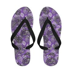 Paisley in Purple Flip Flops