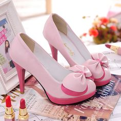 I love these! New Women's Sexy Elegant Vogue Platform Pumps Double Butterfly Knot High Heels   eBay