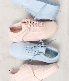 e234ab0909a980 Monochromatic Moments  The Mono Canvas Old Skool. Baby blue and pick vans