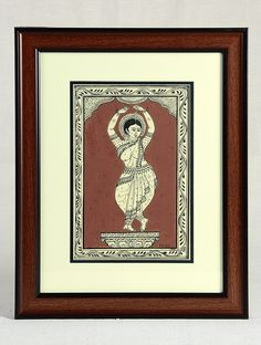 Buy Black Brown Framed Odissi Dance Mudra Pattachitra Painting on Silk 15in x 12in 0.6in Art Decorative Folk Picture Perfect Handmade Indian Traditional Paintings Online at Jaypore.com Indian Artwork, Indian Folk Art, Indian Art Paintings, Kalamkari Painting, Madhubani Painting, Silk Painting, Online Painting, Paintings Online, Phad Painting