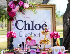 """Mickey Mouse / Minnie Mouse / Birthday """"Chloé oh TWOdles Tea Party"""" 
