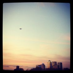 Sunset over the city of London. I will always have a special place in my heart for Londontown!