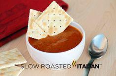 Roasted Tomato Basil Soup    Slow Roasted Italian