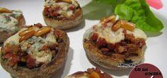 RECETAS DE ANTONIO: Champiñones rellenos al Roquefort