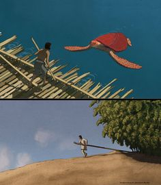 Images for the Studio Ghibli co-production, 'The Red Turtle', the first feature directed by Michaël Dudok de Wit (of Oscar-winning short fame - 'Father and Daughter')