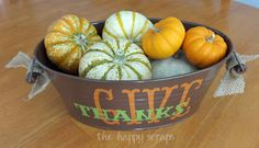 The Happy Scraps: Thanksgiving Centerpiece