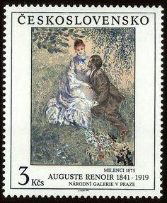Lovers by Auguste Renoir