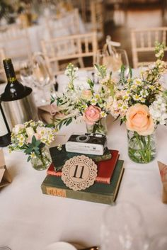 Using Doilies as table numbers