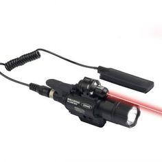 JG-2 Lampe et laser rouge 5mW 2 en 1  Voici un équipement idéal pour votre réplique. Un appareil équipé à la fois d'un laser rouge et d'une lampe tactique. Il se fixe sur rail Picatinny et possède un contacteur déporté. Voici le combo laser et lampe de poche.