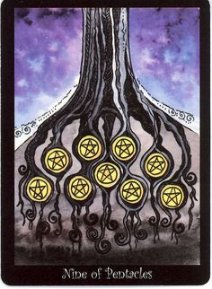 Nine of Pentacles - Tarot of the Trees