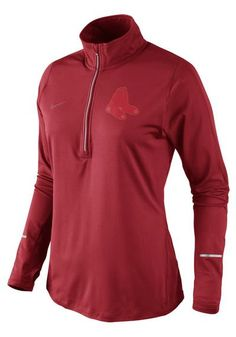 Boston Red Sox Womens Nike 1/4 Zip Performance Long Sleeve Pullover http://www.rallyhouse.com/shop/boston-red-sox-nike-14-zip-performance-red-sox-womens-red-drifit-element-long-sleeve-pullover-125191047?utm_source=pinterest&utm_medium=social&utm_campaign=Pinterest-BostonRedSox $68.00