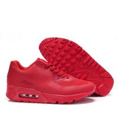 buy online c68a1 e5fe2 Nike Air Max 90 Hyperfuse All Fire Red Mens Running Shoes