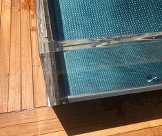 skleněný bazén, nerezový bazén, přelivný bazén, individuální bazén, samonosný bazén, design, Izrael Design