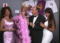 WCW REVIEW - BASH AT THE BEACH 1996 - Mean Gene interviews Ric Flair with Miss Elizabeth and Woman