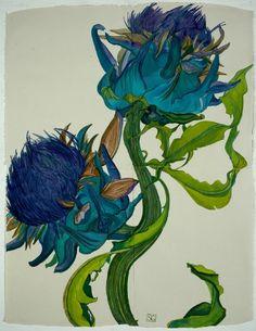 """Thistles""~ Charles Rennie Mackintosh"