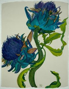 """Thistles""~ Charles Rennie Mackintosh-"