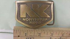 Rare Vintage Metal Belt Buckle Northrup King Spec-cast Rockford, Il