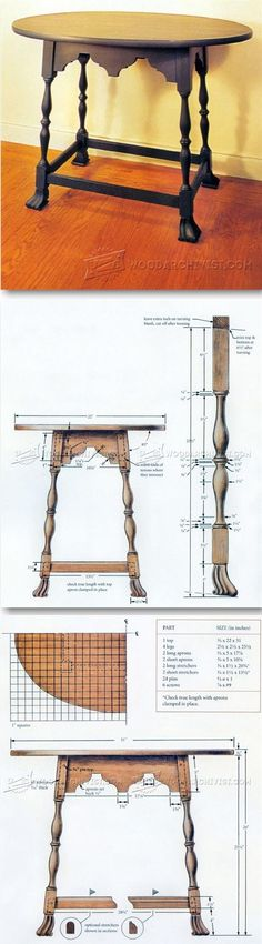Tavern Table Plans - Furniture Plans and Projects | WoodArchivist.com