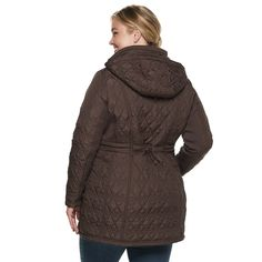 89cc082964a Plus Size Weathercast Hooded Quilted Anorak Walker Jacket  Hooded