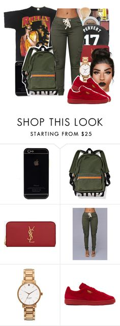"""""""Labor Day tomorrow"""" by youngfashionaddict ❤ liked on Polyvore featuring NARS Cosmetics, Yves Saint Laurent, Kate Spade and Puma"""
