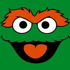 Oscar the Grouch Sesame Street Party, Sesame Street Birthday, Doodle Drawings, Cute Drawings, Elmo Wallpaper, Cute Doodle Art, Oscar The Grouch, Elmo Birthday, Rock Painting Designs