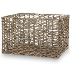 Michaela Sea Grass Braided Utility Basket - Large 20in