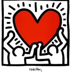 Poster Pop Art Keith Haring - Love is in the Air. Poster Pop Art Keith Haring - Love is in the Air. Keith Haring Kids, Keith Haring Heart, Keith Haring Prints, Arte Pop, Haring Art, Jackson Pollock, Art Moderne, Heart Art, Graffiti Art