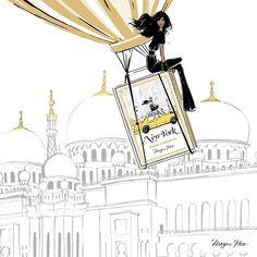 Travel The World Dreams Destinations Megan Hess Illustration, Illustration Art, Kerrie Hess, Arte Fashion, Women's Fashion, Fashion Artwork, Paris Mode, New York Art, Sketch Inspiration