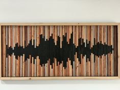 Mid Century Modern Inspired Live Edge Acacia Wood Slab Shelf or shelving or Display Wall Unit Cottage Interiors, Wood Slab, Sound Waves, Recycled Wood, Wall Sculptures, Pebble Art, Wall Collage, Collage Ideas, Wood Art