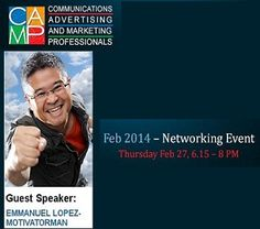 Catch the latest CAMP Networking Session with entrepreneur & motivational speaker Emmanuel Lopez on Feb Guest Speakers, Entrepreneur Motivation, Marketing Professional, Upcoming Events, Motivational, Advertising, Camping, Campsite, Outdoor Camping