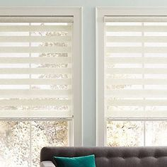 This elegant shade offers privacy when closed and beautifully filters light when open while still providing UV protection. When completely open the sheer fabric rolls up into the head rail, providing a clean look.