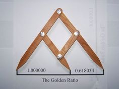 Fibonacci Gauge, Arts and Crafts Golden Ratio Design Tool.