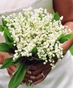 Lily of the Valley.  Of course my birthday flower would be white! :)