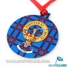 Elliot Clan Crest Christmas Ornament