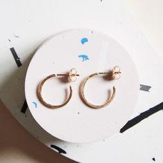 KIND Collection - 9ct Rose Gold Hidden Orbit Earrings.
