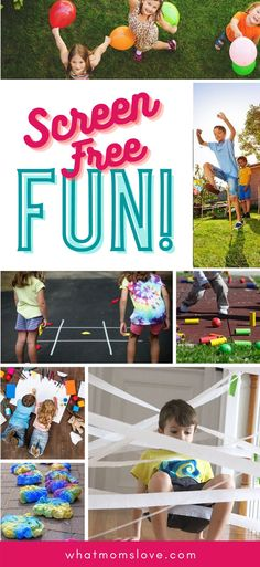 The best screen-free ideas for kids! Get them off their devices for some tech-free time with active + imaginative outdoor (+ indoor) activities. Perfect for quarantine or online learning. Free Activities For Kids, Motor Skills Activities, Therapy Activities, Preschool Activities, Boredom Busters, Free Fun, Kids Education, Free Time, Tech