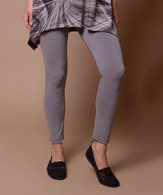 Stone Gray Leggings #zulily #zulilyfinds