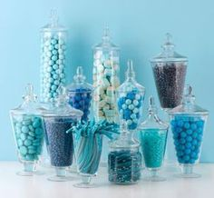 table centerpieces for baby shower 2...maybe check dollar tree or michaels or hobby lobby for inexpensive glass or plastic vases..