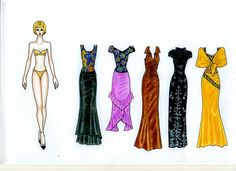 010 - One of my first author paper doll Joyce she 219 outfits on 34 sheets of…