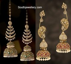 How To Clean Gold Jewelry With Vinegar Indian Jewelry Earrings, Indian Jewelry Sets, Jewelry Design Earrings, Indian Wedding Jewelry, Indian Jewellery Design, Gold Earrings Designs, Bridal Jewelry, Gold Jewelry, Jewelery