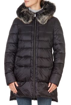 This is the stunning Black Puffer Coat With Fur Trim from our friends at Pregio! A cosy piece with a central zip fastening, side pockets, and a detachable fur trim on the hood. This is the perfect piece to carry you into the colder season! Winter Coats Women, Winter Jackets, Puffer Coat With Fur, Green Shorts, Khaki Green, Fur Trim, Shop Now, Cosy, Pockets