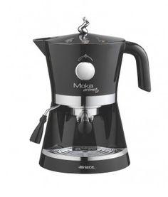 Moka Aroma Espresso nera...Tutto l'aroma del buon caffè e il gusto del design italiano sono racchiusi in Moka Aroma Espresso. Moka Aroma è ideale per gli amanti del caffè espresso e dei cappuccini preparati a regola d'arte. Pratica da utilizzare e pulire, è la macchina ideale per ogni tipo di cucina. Grazie ai 2 portafiltri in dotazione è possibile scegliere tra caffè in polvere o comode cialde E.S.E. Il vassoio raccogli gocce estraibile garantisce un facile e veloce pulizia.