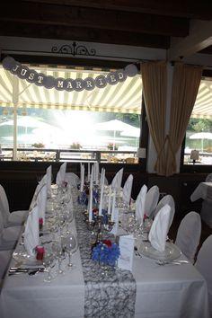 Hochzeit im Seehaus - silbergrau, lavendel und pink - Riessersee, Garmisch-Partenkirchen - http://www.riessersee.com/